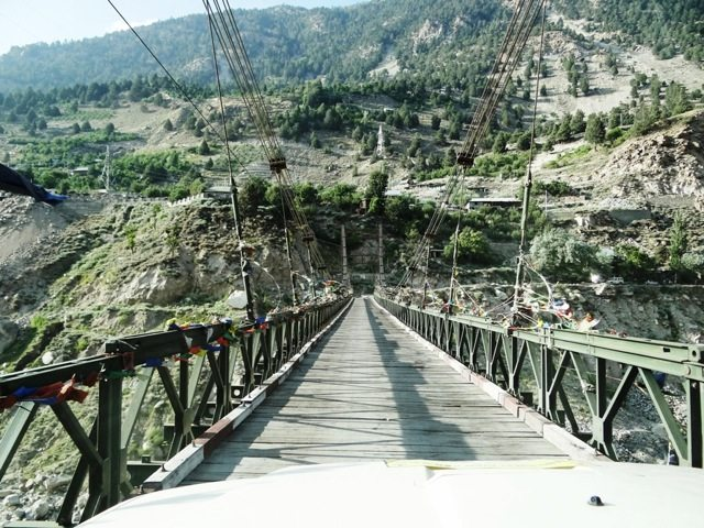 The old wooden plank bridge at Akpa