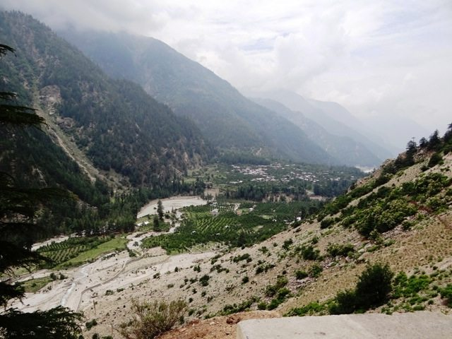 The valley widens towards Sangla and is full of Orchards