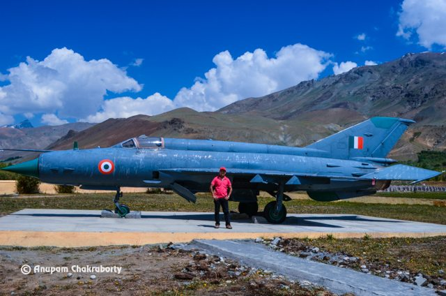 Me in front of the IAF Mig-21 in the Memorial