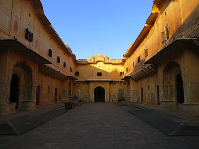 Main courtyard of Madhavendra Palace, Nahargarh Fort - which connects nine halls