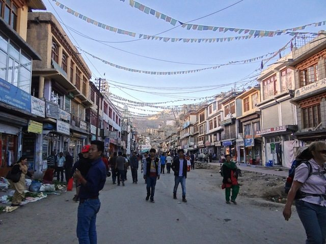 Main street at Leh bazaar