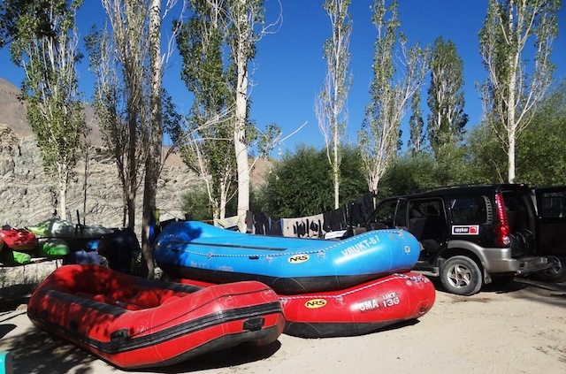 The Rafts we used for the white water experience...
