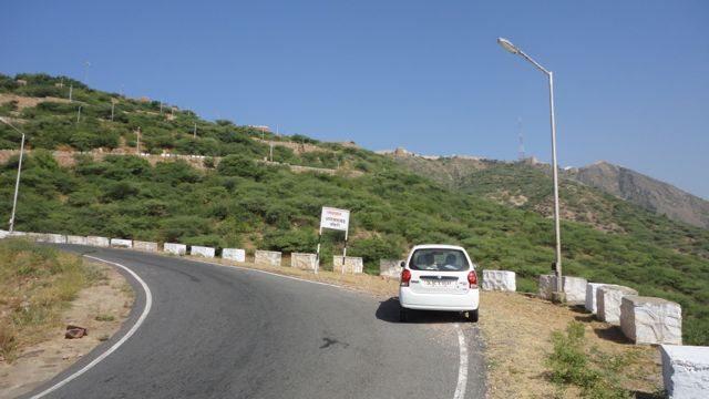 Steep climb at Taragarh Hill