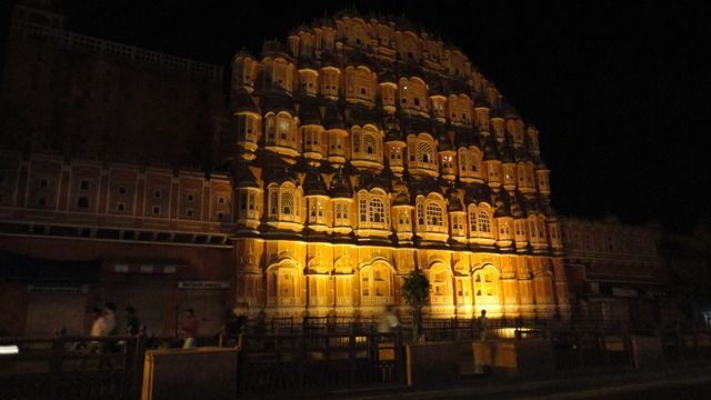 Illuminated Hawa Mahal