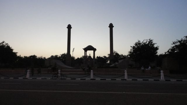 Early morning at Amar Jawan Jyoti, Jaipur