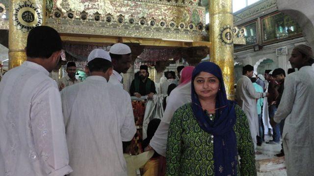 Tulika at the Dargah