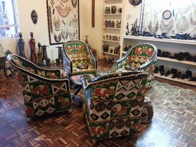 Sitting room decor at Utamaduni Craft Centre