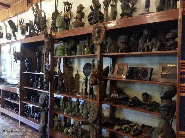 Figures on display at Utamaduni Craft Centre