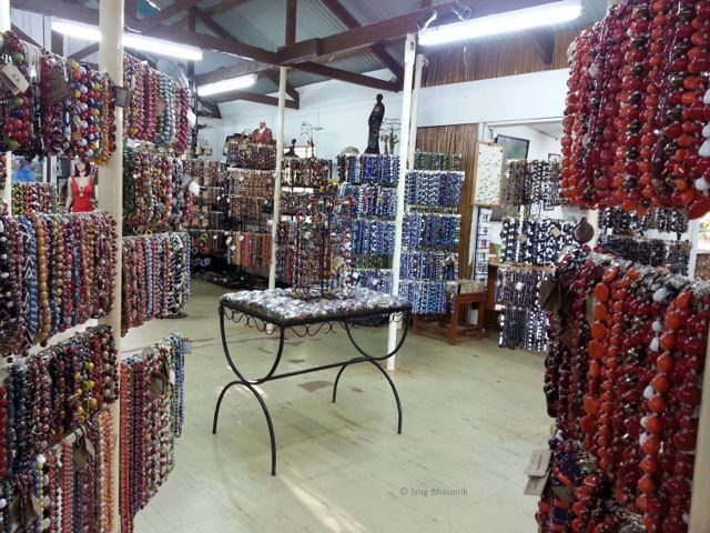 Beads everywhere at Kazuri Bead and Pottery Factory