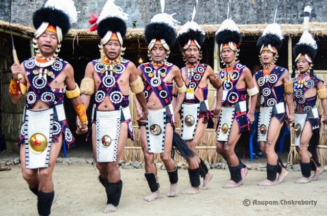 A moment from Naga Tribal Dance
