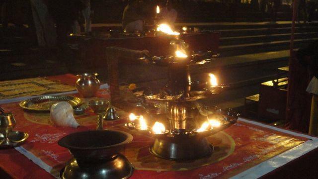 Aarti Lamp at River Narmada