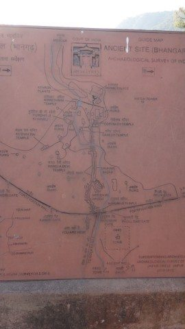 The Guide map of the entire fort premises