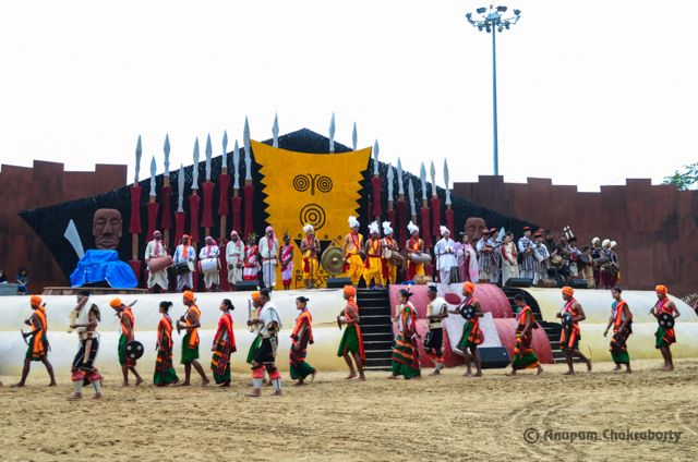 Stage of Hornbill Festival in the Main Arena