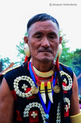 A Naga man in traditional attire