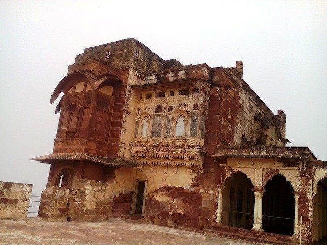Palaces at fort