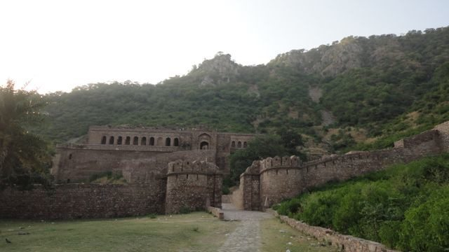 The Bhangarh royal palace