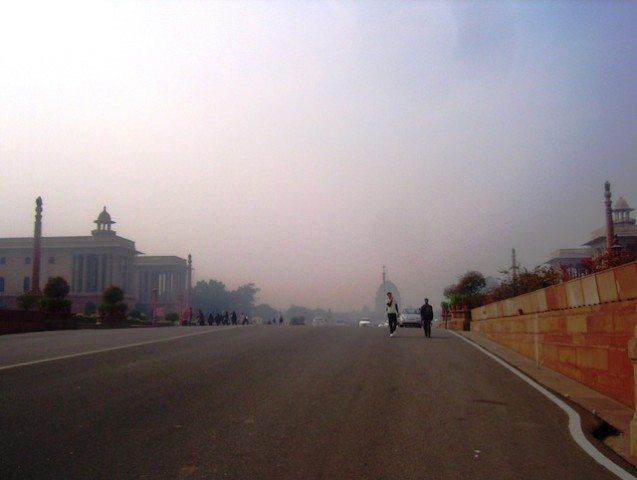 Way to Rashtrapati Bhawan (Rajpath)