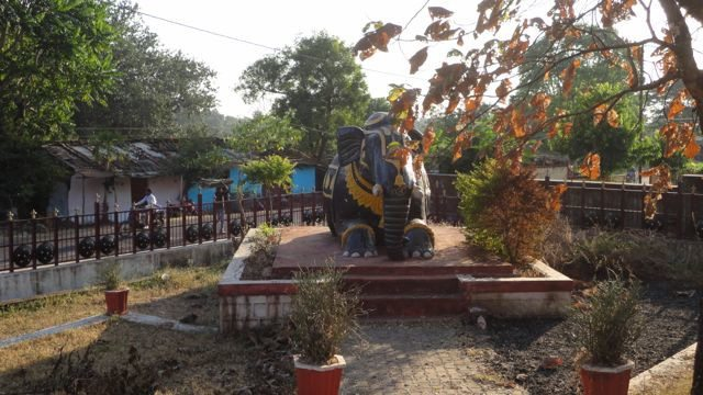 Statue of the elephant of Durgawati