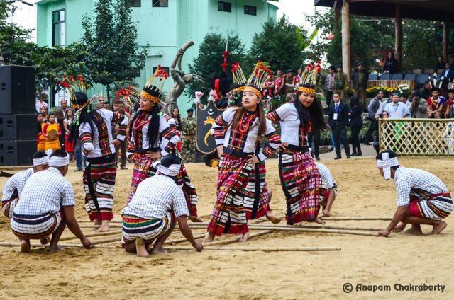 The most popular Bamboo dance of Mizoram