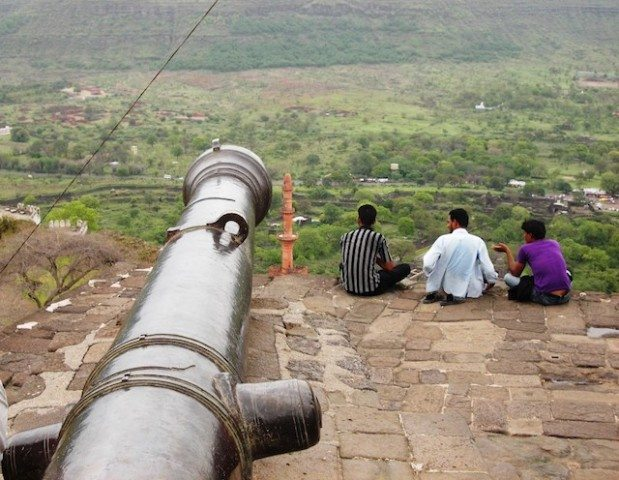 Longest cannon of the fort kept at the top facing first Gate