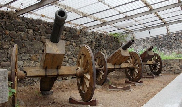 Cannons kept at the museum