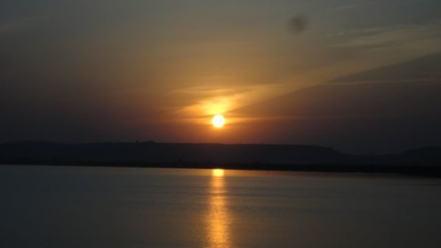 The sun set: stage I
