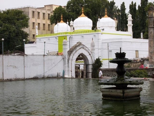Shrine of Baba Shah Musafir seen from Panchakki