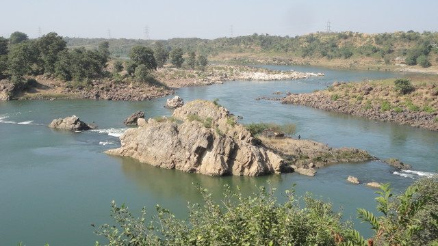 Narmada as visible from the guest house