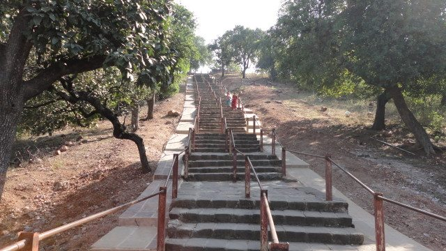 Steps at Chaunsath Yogini temple
