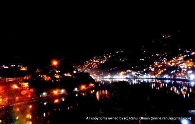 Night view of Nainital