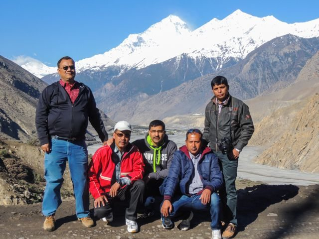 We, the five on the way to Muktinath