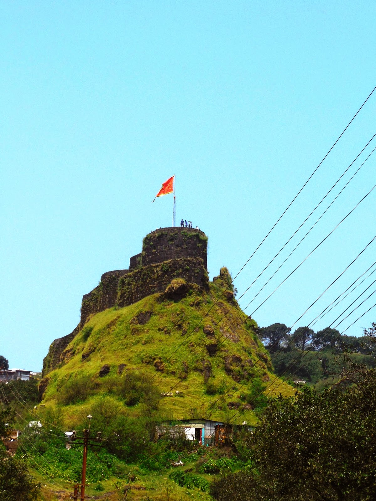 Pratapgarh fort from a distance