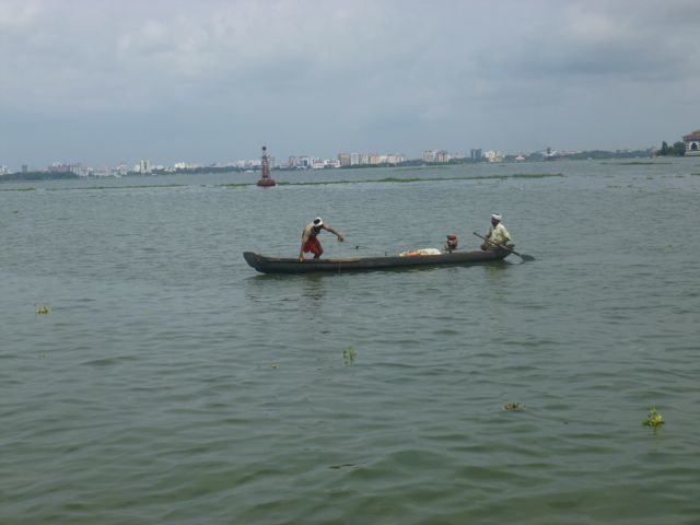 Fishermen at Kochi port