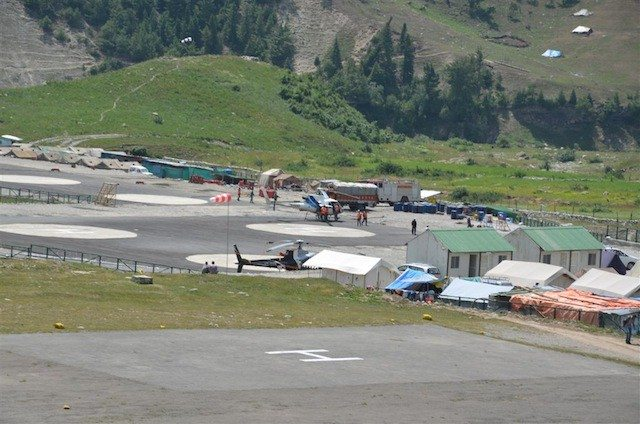 Helipad at Baltal