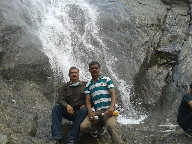With the jawan in front of a spring