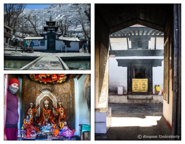 Muktinath Temple and Statue of Gods