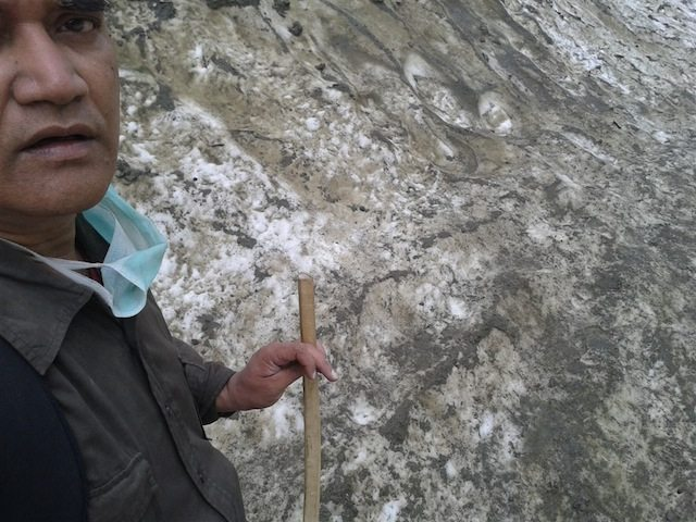 A selfie, while crossing the glacier