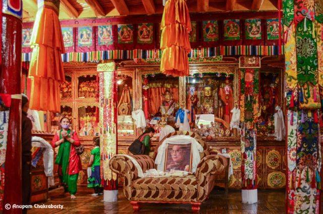 Inner Sanctum of Spituk Monastery