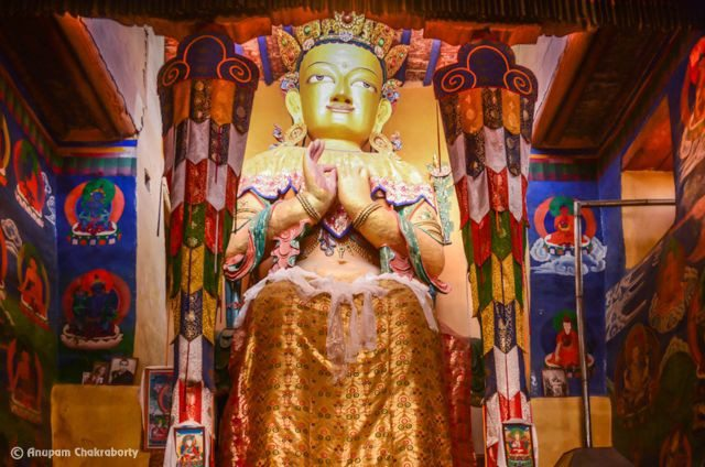 The 8m tall Maitreya Buddha