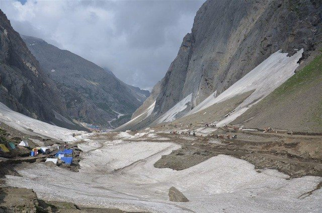 First view of holy Amarnath cave