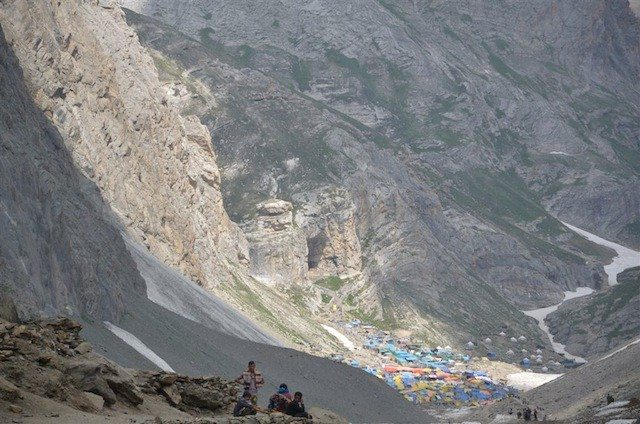 Broader view of holy Amarnath cave