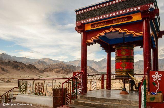 Prayer Wheel at Spituk Monastery