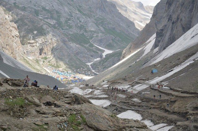 Another view of holy Amarnath cave