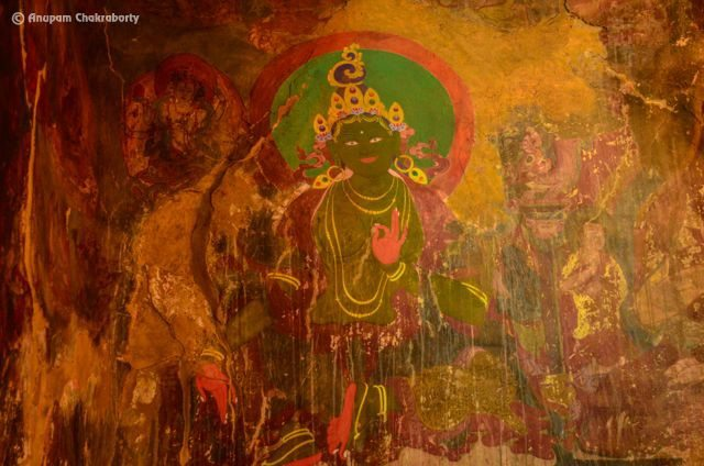 Mural Painting of Deity Green Tara