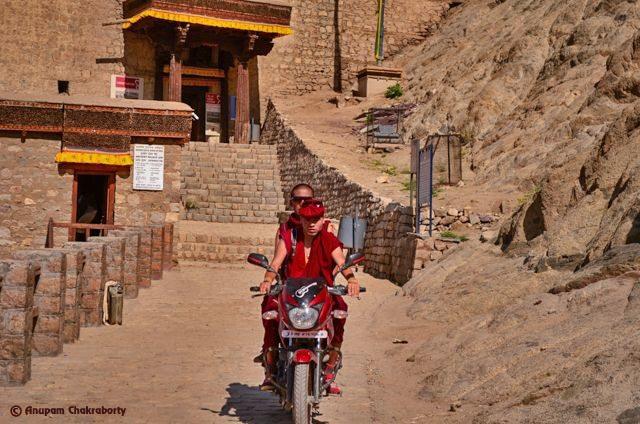 Wandering Monks at Leh Palace!