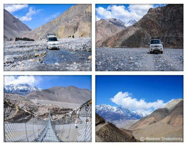 Road to Muktinath and Landscape