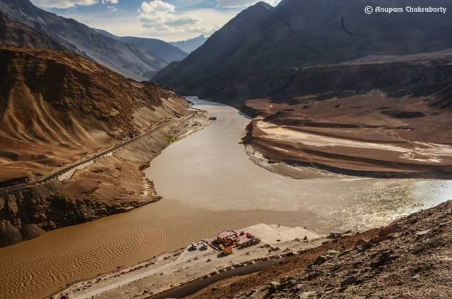 Sangam-confluence of River Indus and Zanskar