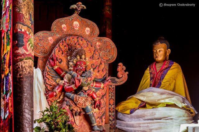 Mahakala, a protector deity in the chapel