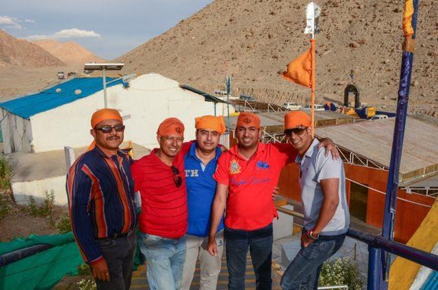 My friend Prabir & Ranen with Sachin & his friends