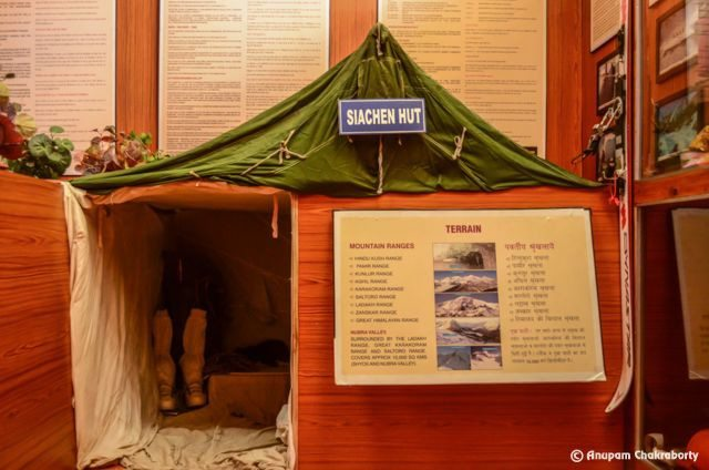 A model of Siachen Hut